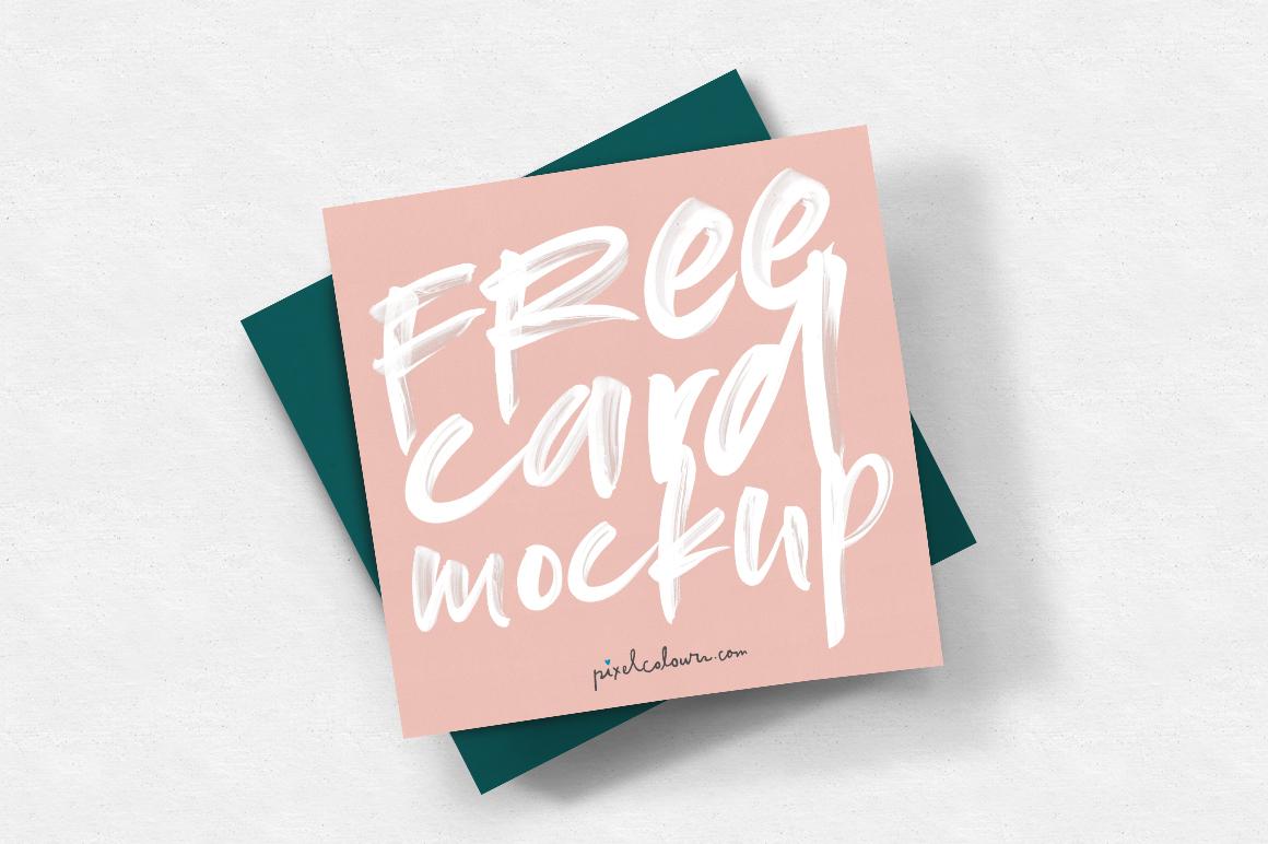 free card mockup  pixelcolours